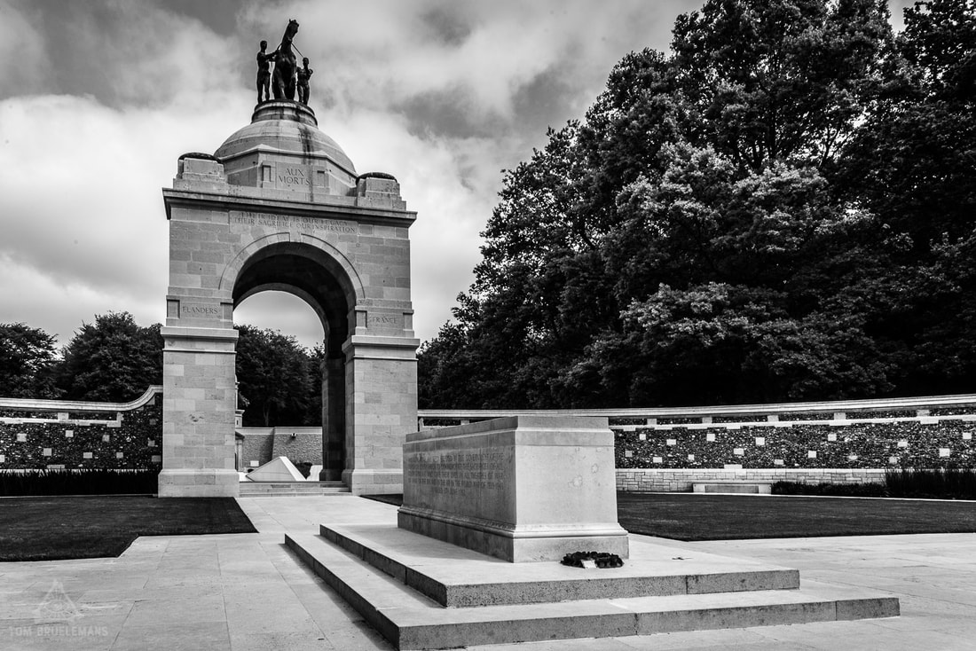 South African National Memorial at Delville Wood,  Longueval. With altar Stone.