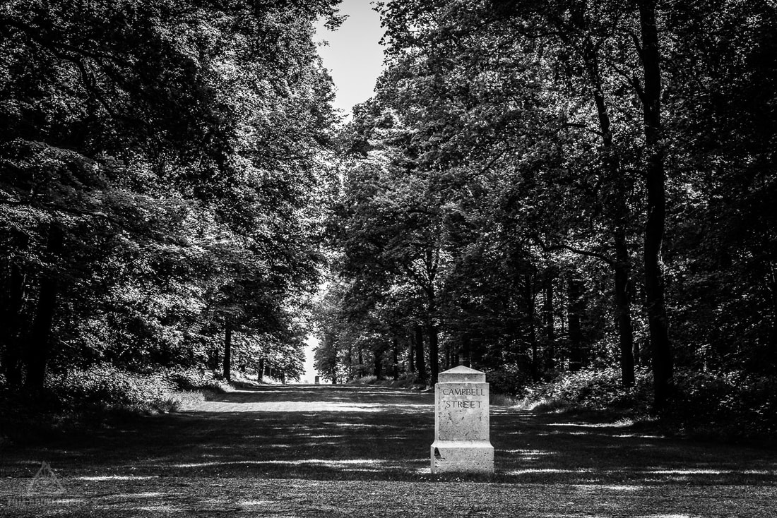 Delville Wood today, street stones