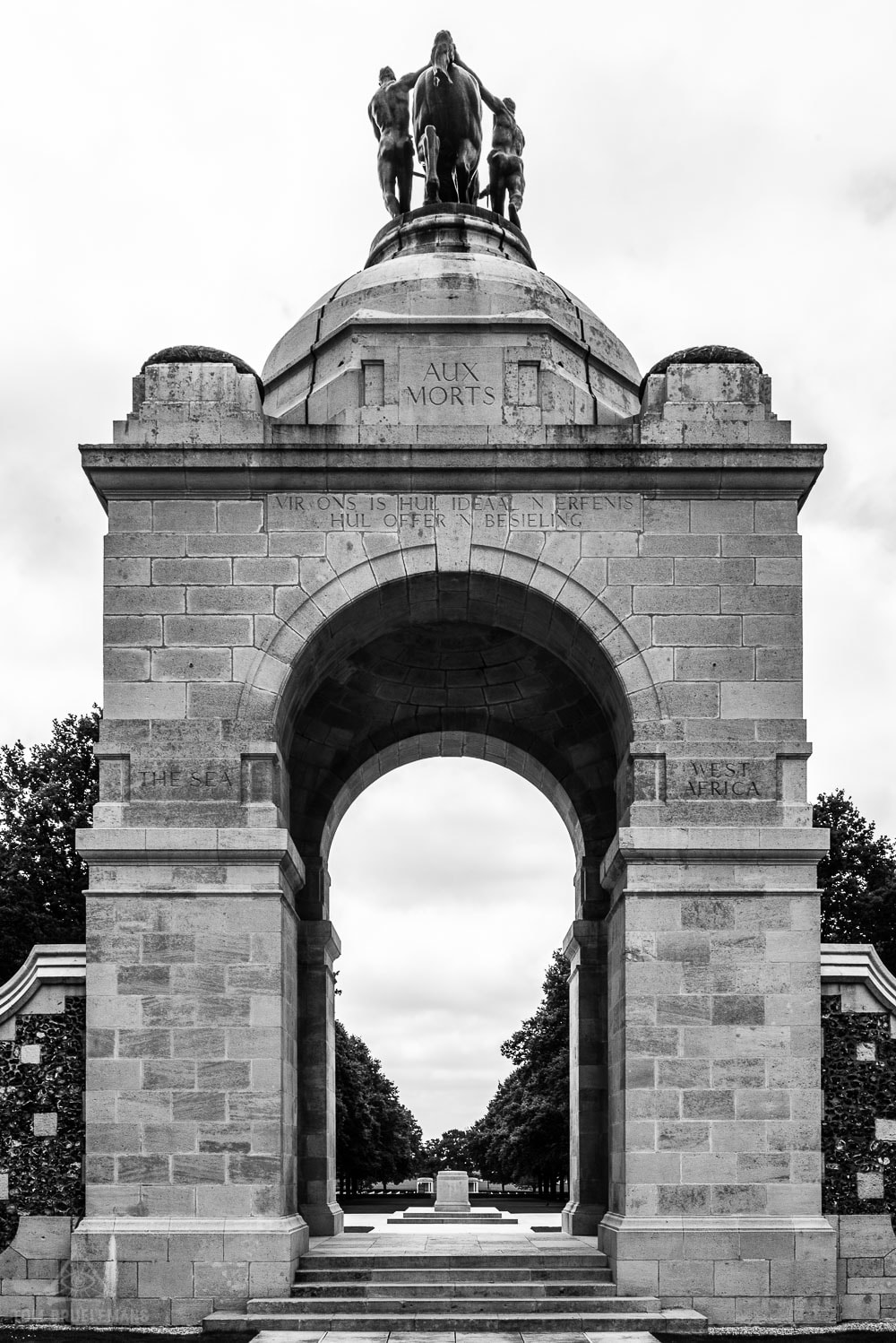 The arch of the South African National Memorial at Delville Wood,  Longueval