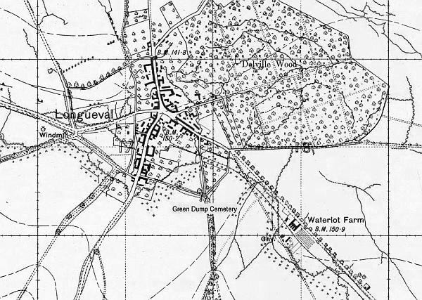 Delville Wood map world war 1