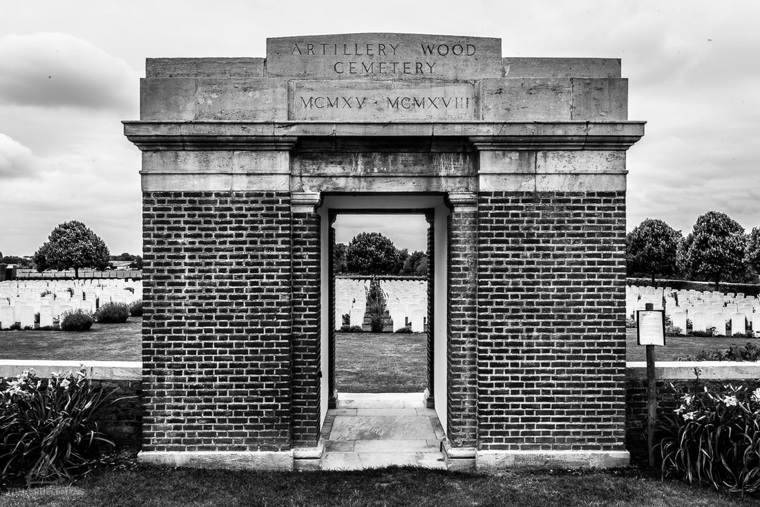 Artillery Wood Cemetery at Boezinge.